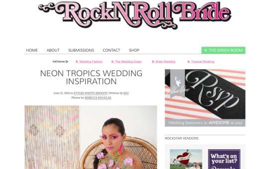 "Flowers by SP featured on ""Rock n Roll Bride"""
